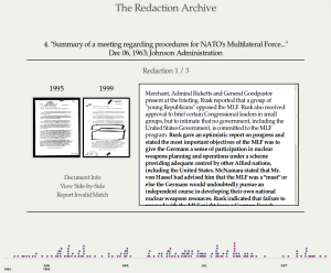 Capture d'écran de la Redaction Archive